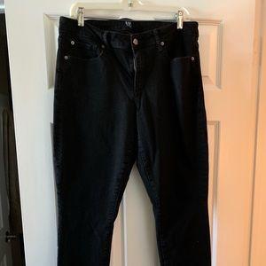 Black Gap curvy skinny jeans